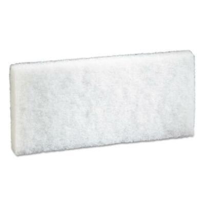 "3m 8440 Doodlebug Scrub Pad, 4.6"" X 10"", White, 5/pack, 4 Packs/carton"
