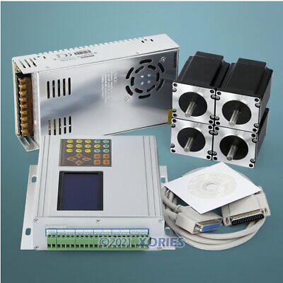4 Axis Cnc Kit Tb6560 Hb Nema23 278oz-in Motor 24v Psu For Diy Routerplasma