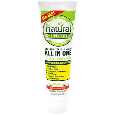 The Natural Dentist All In One Fluoride Toothpaste with Purified Aloe Vera - ... (All In One Toothpaste)
