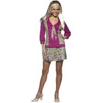 c. Jan Brady Costume 3 Pc Multi Color Skirt Top & Glasses OS (Brady Bunch Kostüm)