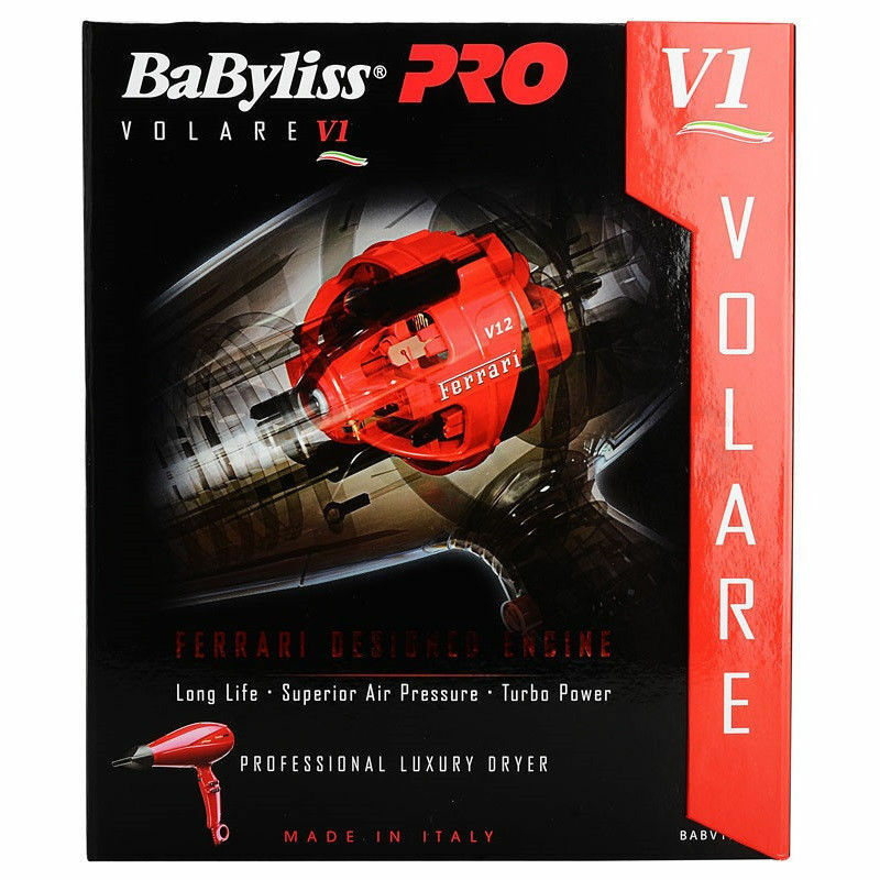 Babyliss Pro BABFV1 Volare Professional Luxury Dryer, Black