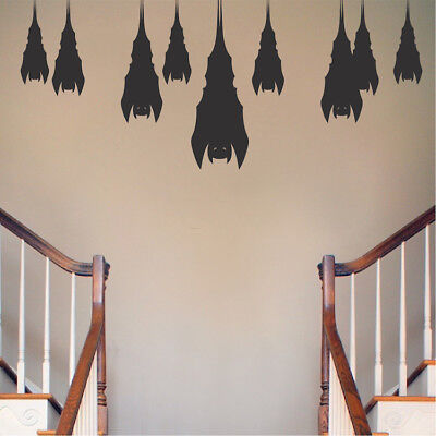 Sleeping Bats Wall Decals Halloween Window Stickers Halloween Decorations, h20