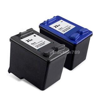 2X Ink Cartridge HP 21XL 22XL for Deskjet F2280 F2275 F2179 3910 3940 Printer