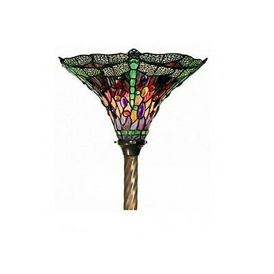Tiffany Style Lamp Stained Glass Dragonfly Torchiere ...