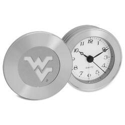 Flying WV Logo  Travel Alarm Clock - Silver