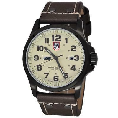 Luminox Men's A.1927 Atacama Field Day-Date Gunmetal PVD Brown Leather 1927