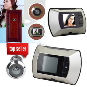 2.4'' LCD Digital Ring Monitor Door Peephole Viewer Camera Cam Jingle Doorbell M