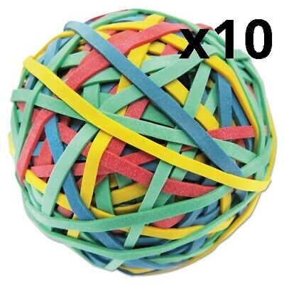 Rubber Band Ball 3 Diameter Size 32 Assorted Colors 260pack Pack Of 10