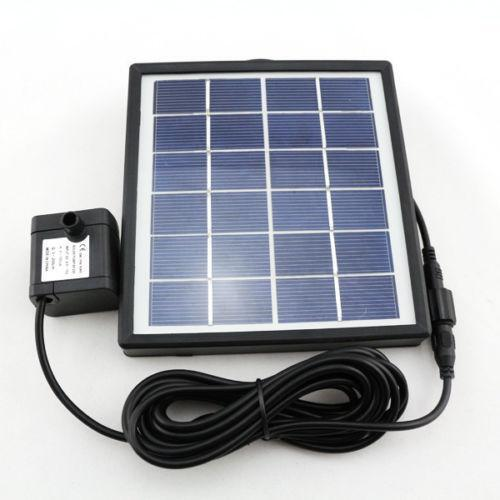 solar power fountain pool water pump ebay. Black Bedroom Furniture Sets. Home Design Ideas