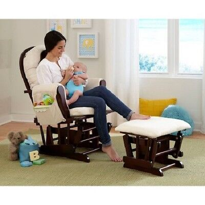 Glider Rocker Sofa Seat Couch Chair Ottoman Nursery Furniture Nursing Pregnant