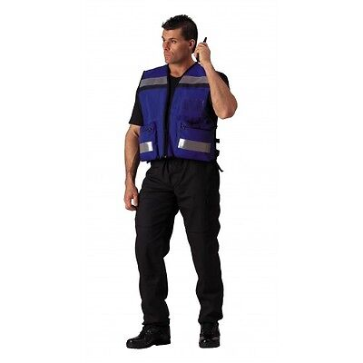 Rothco 9521 Blue High Visibility Ems Rescue Vest