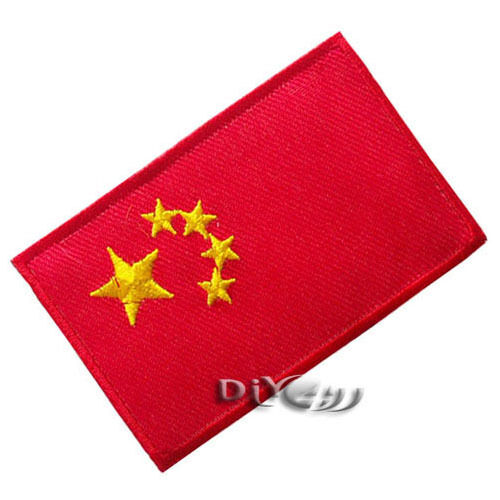 China Flag Embroidered Sew or Iron on Patch Badge Applique