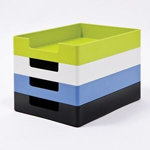Sysmax space constructible plastic paper desk organizer ebay - Plastic desk organizer ...