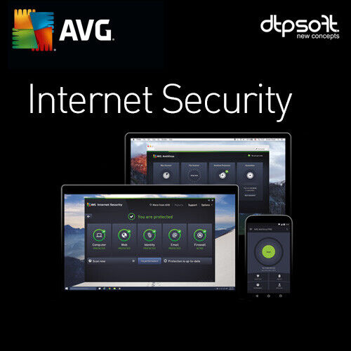 AVG Internet Security 2021 3 PC 3 Devices 1 YEAR License US