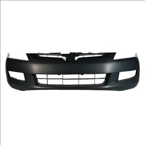 HONDA ACCORD BUMPER FR CPE PRIMED W/FOG LAMP HOLE M/T V6 03-05