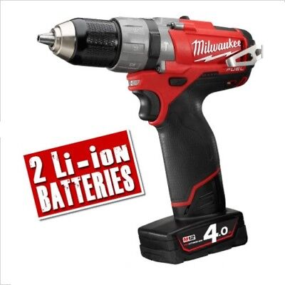 MILWAUKEE M12CPD402C 12v FUEL 4Ah Li-ion Cordless Brushless Hammer Drill Driver