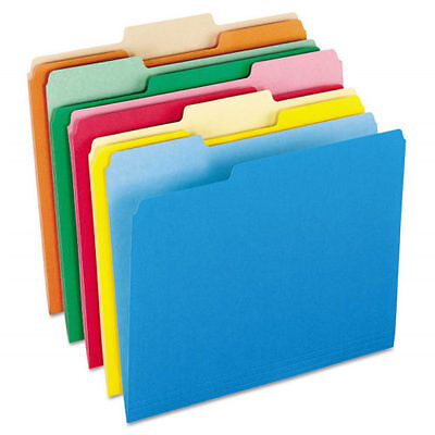 Manila File Folders Letter Size Multi Colors Filing Assorted 13 Tab 100 Qty