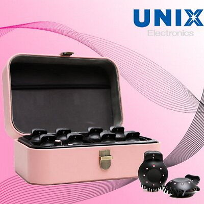 UNIX Pink Style Cube Instant Hair Curling Curler 8 Heating Styling Clip PW-A5200