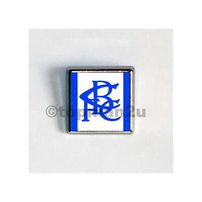 New, Quality Square Metal Pin Badge - Birmingham City BCFC 1970's Logo - Retro