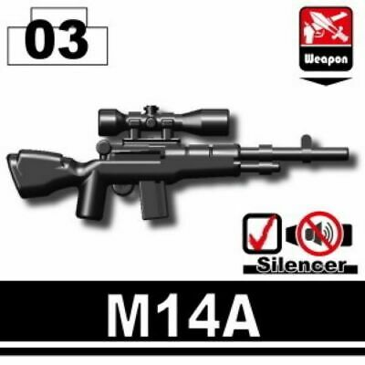 SIDAN Black M5 CQB Rifle Weapons for Brick Minifigures