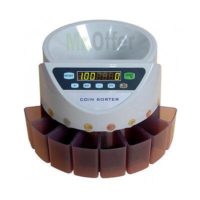 Contamonete elettronico professionale separa soldi conta monete automatico euro, usato usato  Napoli