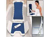 New in box, Electric Bellavita Bath Lift with 21 month guarantee.