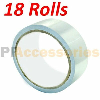 18 Rolls 26 Ft X 1.88 Aluminum Foil Heat Shield Tape Hvac Heating Ac Sealing A