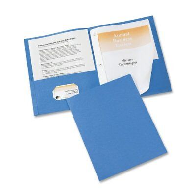 New Avery Two Pocket Folders Light Blue Pack Of 25 47976 Free Shipping