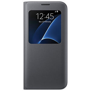 Authrntic Genuine Samsung S View Cover Case for Galaxy S7 Edge