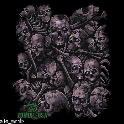 Zombie Skull T Shirt Heat Press Transfer For T Shirt Tote Sweatshirt Fabric 725o