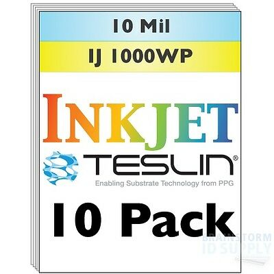 Inkjet Teslin Synthetic Paper For Making Pvc-like Id Cards - 10 Sheets
