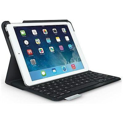 Logitech Wireless Ultrathin Keyboard Folio Case for iPad Air 1 gen -Carbon Black