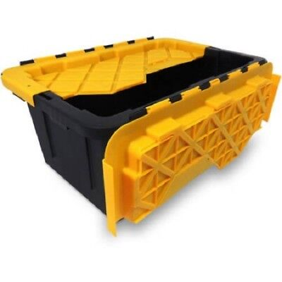 6 Storage Bins Stackable Containers 15 Gal Totes Plastic Heavy Duty Flip Lid Box](Stackable Containers)