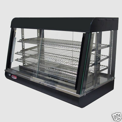 Heated Food Display Warmer Cabinet Case 26 3 Shelf