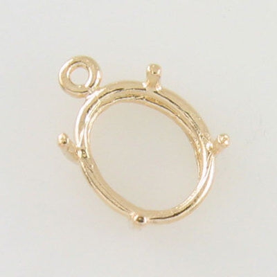 PRENOTCHED OVAL DANGLE SETTING 12X10MM IN YELLOW GOLD CD1210OV-10KY