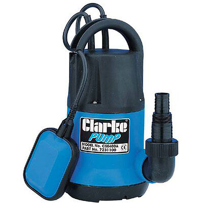 CLARKE ELECT SUBMERSIBLE WATER PUMP 230V 115 LTR/MIN FLOAT SWITCH 7231100