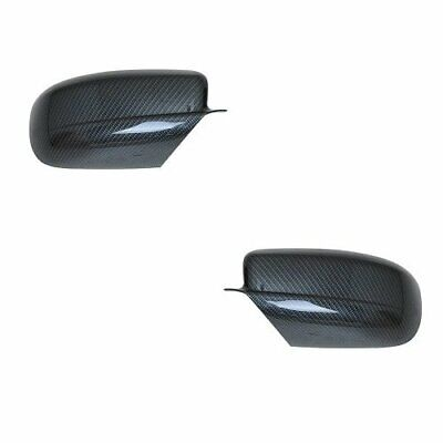 For 2011-2019 Dodge Charger Black Carbon Fiber Print Look Side Mirror (Mirror Printing)