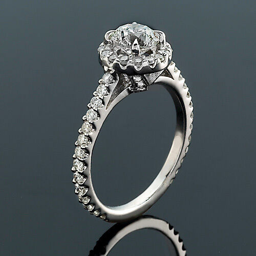 2 Ct Solitaire Diamond Engagement Ring Round D SI1 14K White Gold