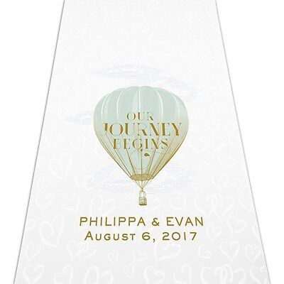 Travel Hot Air Balloon PERSONALIZED Aisle Runner Wedding Ceremony Decoration  - Personalized Wedding Aisle Runner