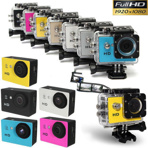 Full HD 1080P Sports Action Camera Cam Includes GoPro Kit Camcorders