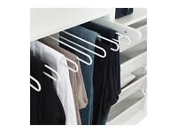 Ikea KOMPLEMENT Pull-out trouser hanger, white