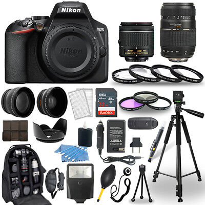 Nikon D3500 Digital Camera + 18-55mm VR + 70-300mm + 30 Piece Accessory Bundle for sale  Shipping to India