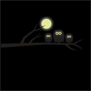 Glow-in-the-Dark-Owl-and-Moon-Vinyl-Wall-Stickers-Wall-Decals-Wall-Art