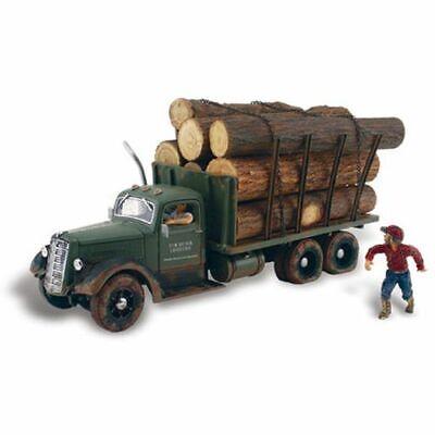 Woodland Scenics AS5343 N-Scale Tim Burr Logging Truck w/ Figure AutoScenes for sale  Madison