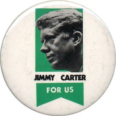 Official 1976 Jimmy Carter FOR US Campaign Button (1967)