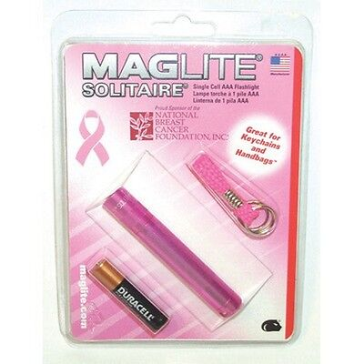 Maglite Solitaire Incandescent 1-Cell AAA National Breast Ca