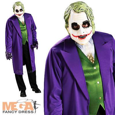 The Joker Mens Fancy Dress Batman Dark Knight Villain Adults Halloween Costume  (The Joker Halloween Costume)