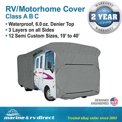 Waterproof RV Cover Motorhome Camper Travel Trailer Fits 26' ft. Class A B C