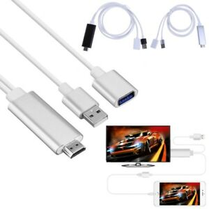 HDMI-Male-To-USB-Male-Female-HDTV-TV-Adapter-Splitter-Cable-1080P-Full-HD-Output