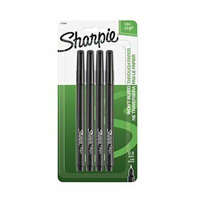 Sharpie Pen. Felt Pens Fine Point Black Ink 4 Pack 1742661 730419